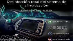 Desinfección del sistema de climatización .